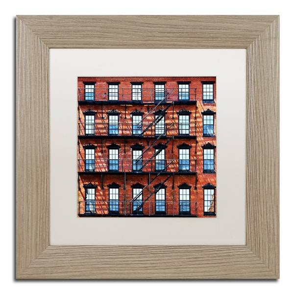 Philippe Hugonnard 'Brick Building' Matted Framed Art