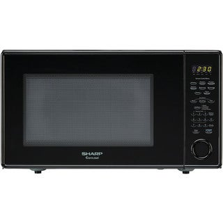 Sharp Carousel Black 1.8-cubic-foot 1100-watt Countertop Microwave Oven