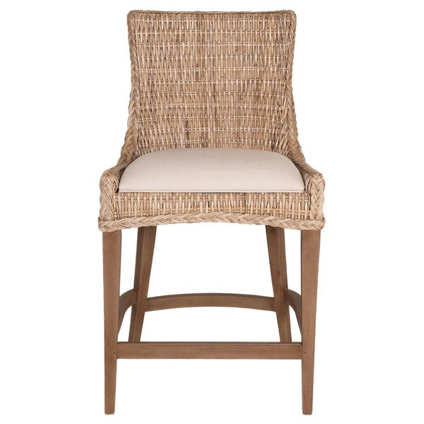 shop gray manor victor tan grey off white wood wicker and fabric counter stool set of 2. Black Bedroom Furniture Sets. Home Design Ideas