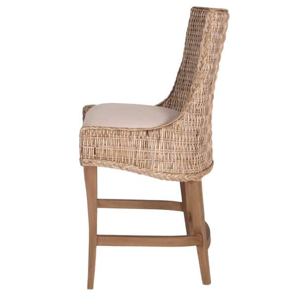 Pleasing Shop Gray Manor Victor Tan Grey Off White Wood Wicker And Ibusinesslaw Wood Chair Design Ideas Ibusinesslaworg