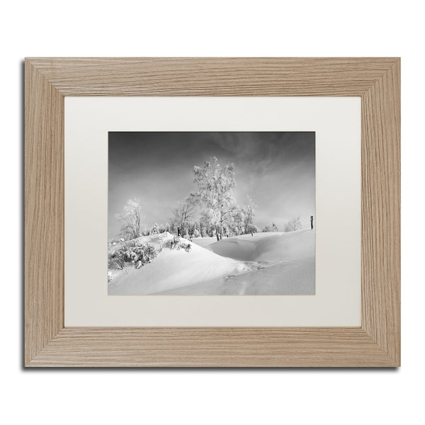 Philippe Sainte-Laudy 'Dressed For Winter B&W' Matted Framed Art