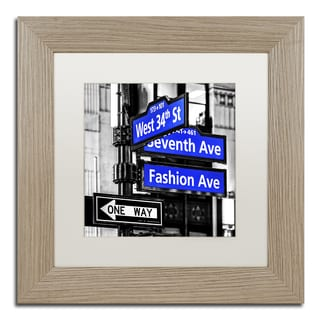 Philippe Hugonnard 'NYC Signs' Matted Framed Art
