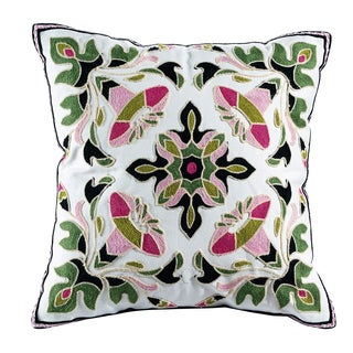eLIGHT Ava Embroidered Cotton 18-inch Throw Pillow