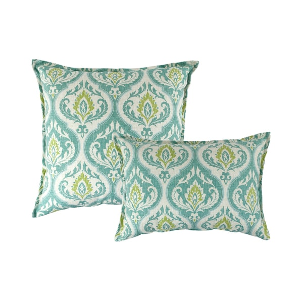 Sherry Kline Splendor Aqua Combo Pillows (Set of 2)