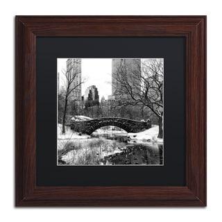 Philippe Hugonnard 'Gapstow Bridge Central Park' Matted Framed Art