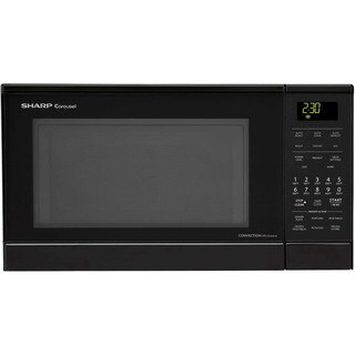 Sharp Carousel Black 0.9-cubic-foot 900-watt Countertop Convection Microwave Oven With Stainless Steel Interior