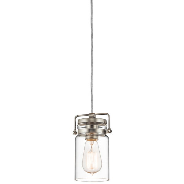 Kichler Lighting Brinley Collection 1 Light Brushed Nickel Mini Pendant Free Shipping Today