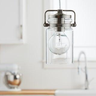 Kichler Lighting Brinley Collection 1-light Brushed Nickel Mini Pendant