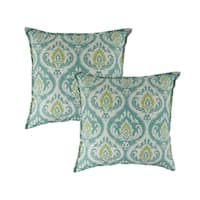 Sherry Kline Splendor Aqua 20-inch Decorative Pillows (Set of 2)