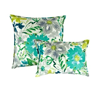 Sherry Kline Summer Floral Teal Combo Pillows (Set of 2)