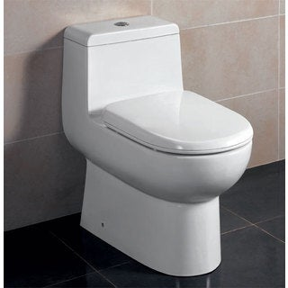 Eago TB351 Dual-flush 1-Piece Eco-friendly High-efficiency Low Flush Ceramic Toilet