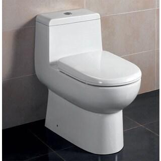 Eago TB351 Dual-flush 1-Piece Eco-friendly High-efficiency Low Flush Ceramic Toilet