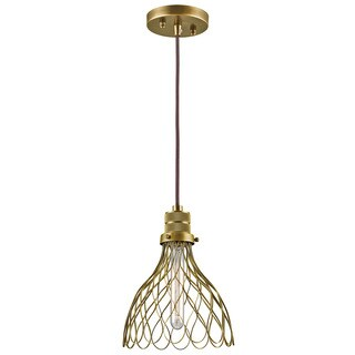 Kichler Lighting Devin Collection 1-light Natural Brass Mini Pendant
