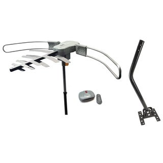 Premium HDTV Long-range Digital TV Antenna Powered for Maximum Distance Over-the-air Stations With Roof Mounting J-pole Included