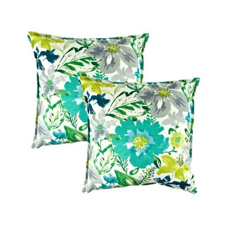 Sherry Kline Summer Floral Teal 20-inch Decorative Pillow (Set of 2)