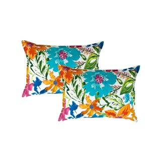 Sherry Kline Summer Floral Multi Boudoir Decorative Pillow (set of 2)