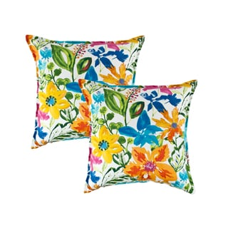 Sherry Kline Summer Floral Multi 20-inch Decorative Pillow (set of 2)