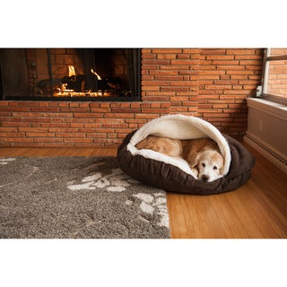 Snoozer Luxury Micro-suede Cozy Cave Dog or Cat Bed