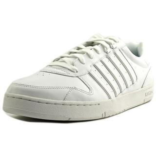 K-Swiss Men's Jackson White Faux-leather Athletic Shoes