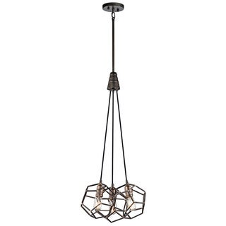 Kichler Lighting Rocklyn Collection 3-light Raw Steel Foyer Pendant