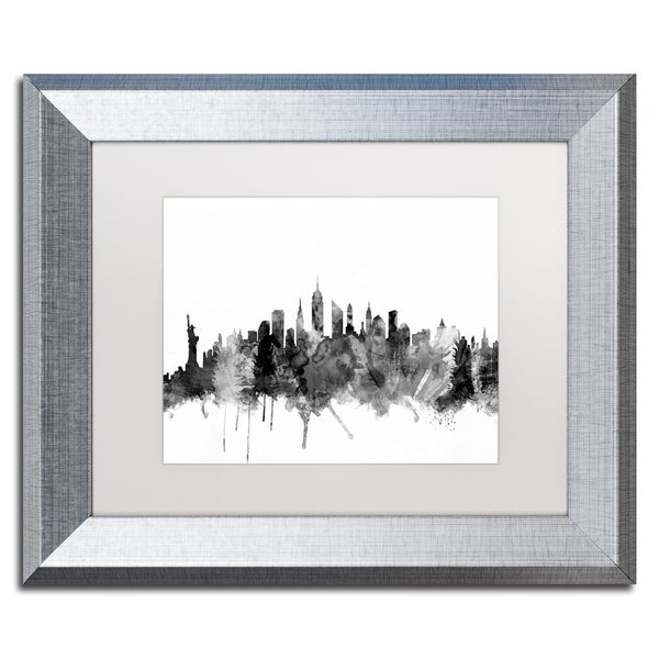 Shop Michael Tompsett \'New York City Skyline B&W\' Matted Framed Art ...