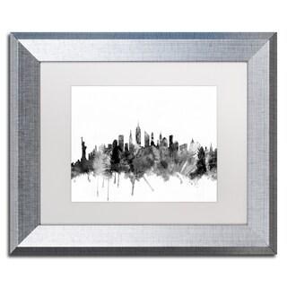 Michael Tompsett 'New York City Skyline B&W' Matted Framed Art