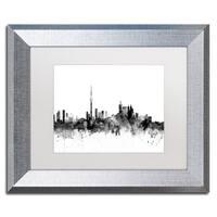 Michael Tompsett 'Toronto Canada Skyline B&W' Matted Framed Art