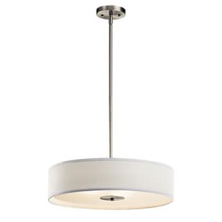 Kichler Lighting Transitional 3-light Brushed Nickel Pendant/Semi Flush Mount