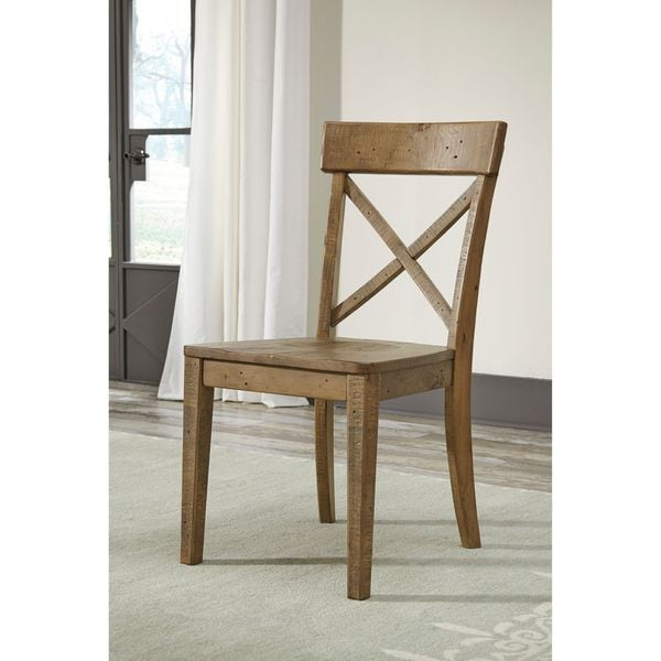Signature Design By Ashley Trishley Solid Wood Brown Dining Room Dining  Chair (Set Of 2