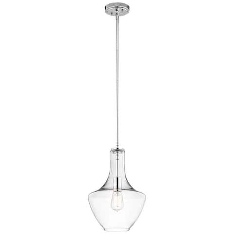 Kichler Lighting Everly Collection 1-light Chrome Pendant 10.5 inch Diameter