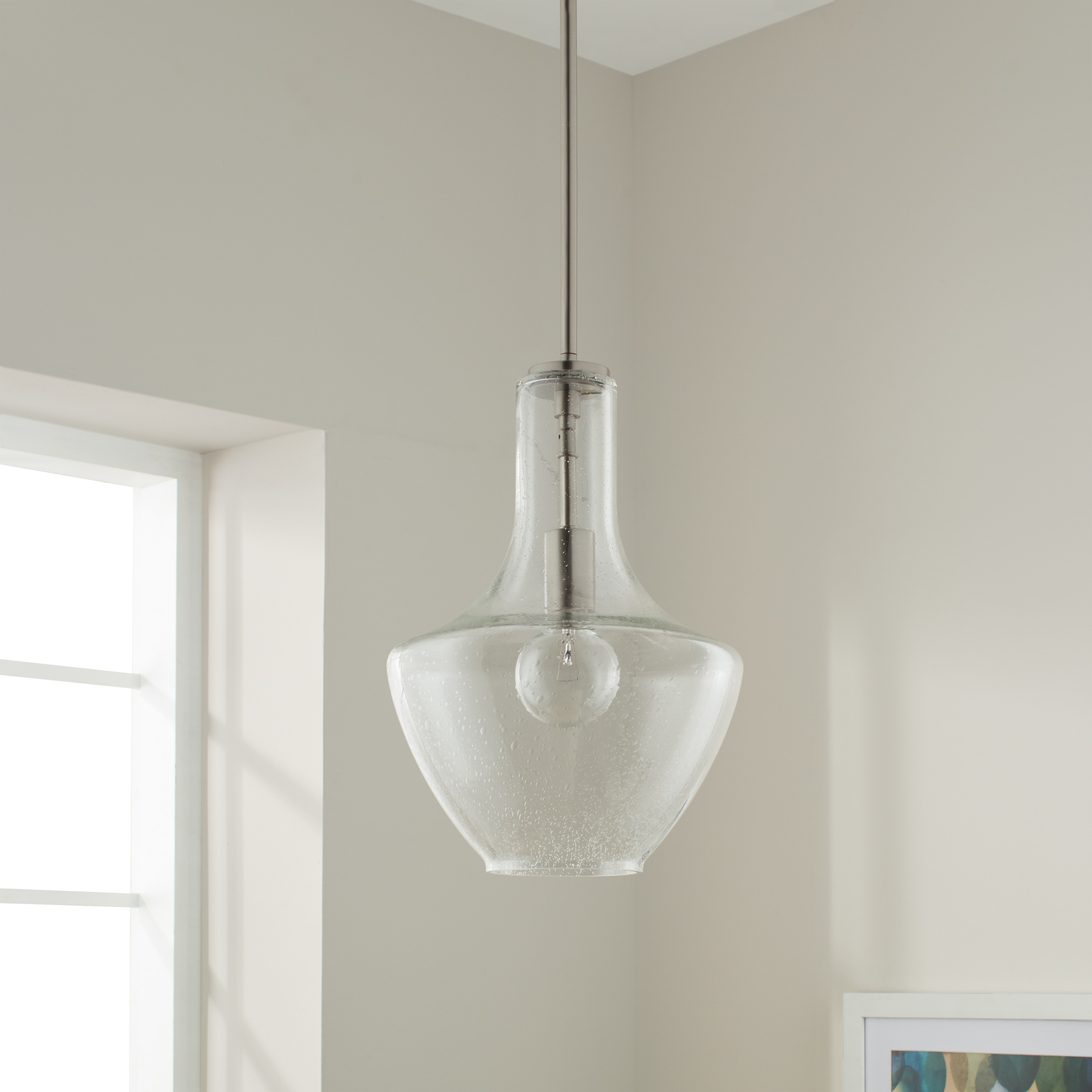 Kichler Lighting Everly Collection 1 Light Brushed Nickel Pendant 10 5 Inch Diameter