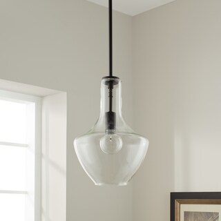 Kichler Lighting Everly Collection 1-light Olde Bronze Pendant 10.5 inch Diameter