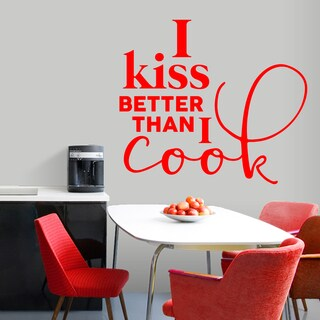 I Kiss Better Than I Cook' 48 x 42-inch Kitchen Wall Decal