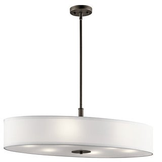 Kichler Lighting Transitional 6-light Olde Bronze Oval Pendant