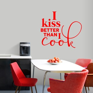 I Kiss Better Than I Cook' 36 x 32-inch Kitchen Wall Decal