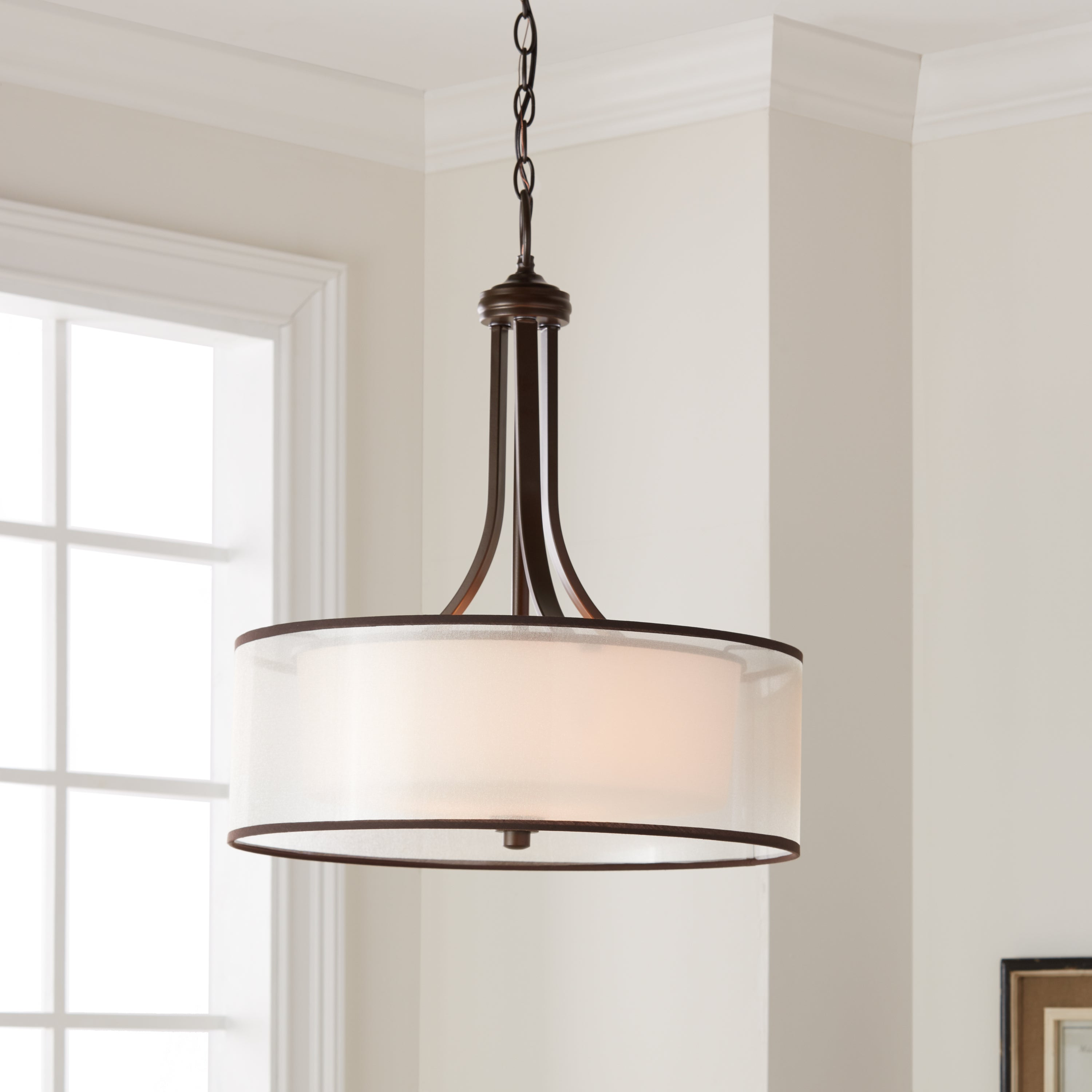 Kichler Lighting Lacey Collection 4 Light Mission Bronze Pendant