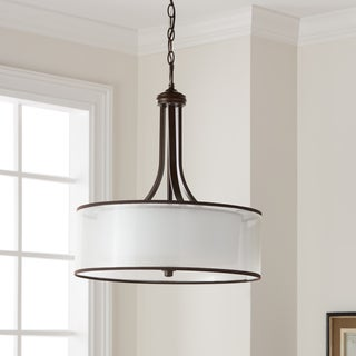 Link to Kichler Lighting Lacey Collection 4-light Mission Bronze Pendant Similar Items in Pendant Lights