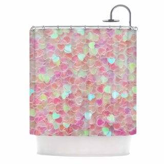 KESS InHouse Debbra Obertanec 'Hearts Galore' Shower Curtain (69x70)