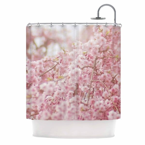 KESS InHouse Debbra Obertanec 'Spring Pinks' Shower Curtain (69x70)