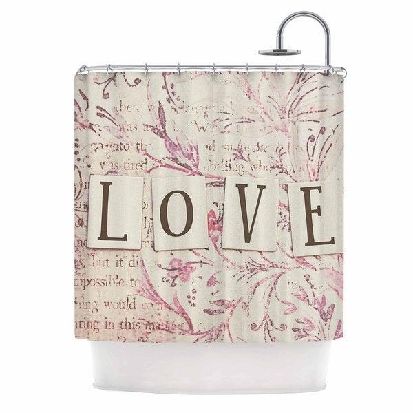 KESS InHouse Debbra Obertanec 'Simply Love' Shower Curtain (69x70)
