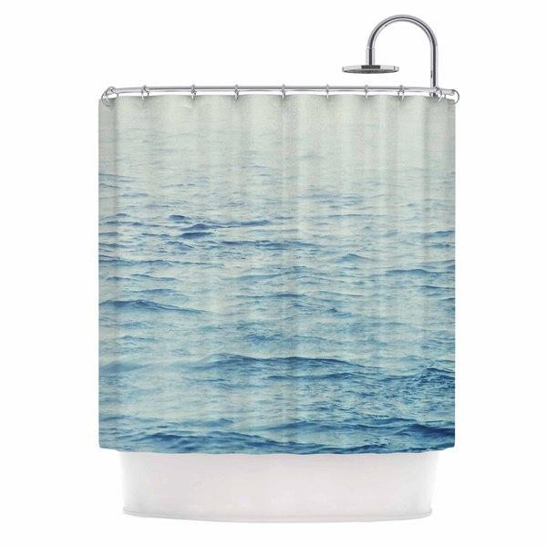 KESS InHouse Debbra Obertanec 'Foggy Morning Ocean' Shower Curtain (69x70)
