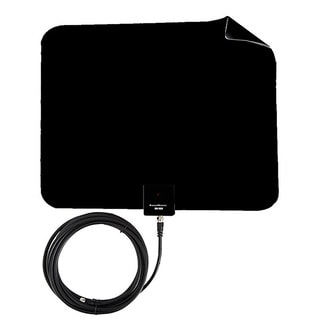 Supreme Amplified Razor Black 60 HDTV Indoor Flat Leaf Antenna with RG6 Cable