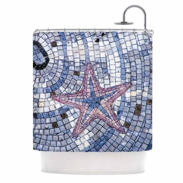 KESS InHouse Debbra Obertanec 'Mosaic Starfish' Shower Curtain (69x70)