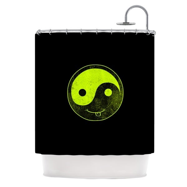 KESS InHouse Frederic Levy-Hadida 'Bad A** Ying Yang' Shower Curtain (69x70)