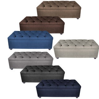 MJL Furniture-Sole Secret Obsession Diamond-tufted Shoe Storage Bench