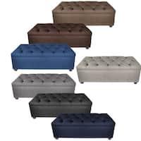 MJL Furniture-Sole Secret Obsession Diamond-tufted Shoe Storage Bench
