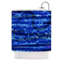 KESS InHouse Frederic Levy-Hadida 'Squares Traffic Blue' Shower Curtain (69x70)