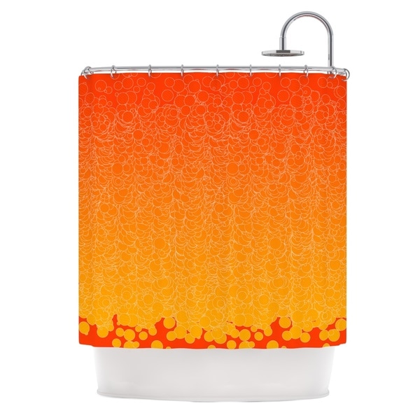 KESS InHouse Frederic Levy-Hadida 'Bubbling Red' Shower Curtain (69x70)