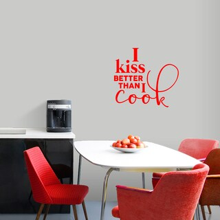 I Kiss Better Than I Cook' 24 x 22-inch Kitchen Wall Decal