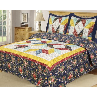 Slumber Shop Heritage Collection Country Star Cotton Quilt 3-Piece Set